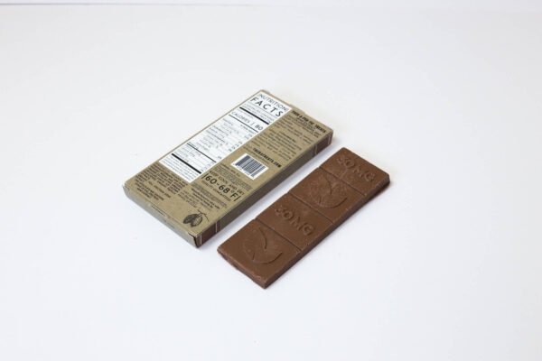 organic cbd milk chocolate bar 120mg extra strength