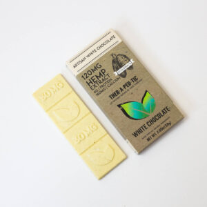 organic cbd white chocolate bar 120mg extra strength