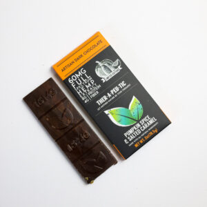 organic cbd pumpkin spice and salted caramel dark chocolate bar 60mg