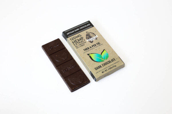 organic cbd 100 percent dark chocolate bar 120mg extra strength