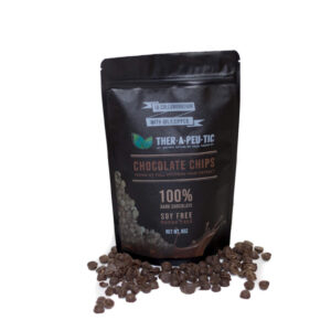 organic cbd 100 percent dark chocolate chips 100mg