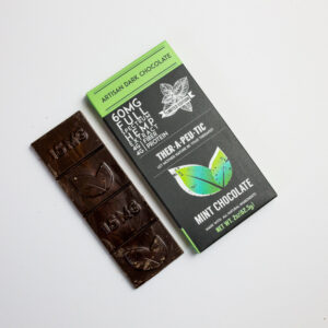 organic cbd mint dark chocolate bar 60mg